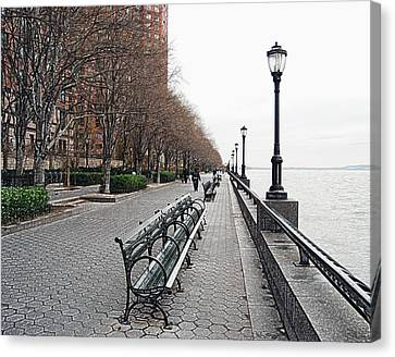 Manhatten Canvas Print - Battery Park by Michael Peychich