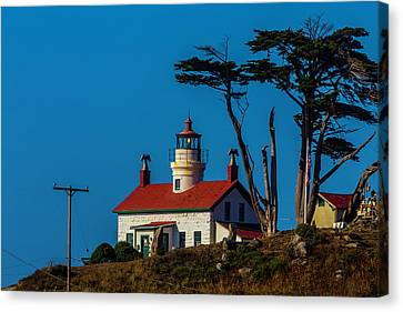 Battery Point Lighthouse Cresent City Canvas Print by Garry Gay