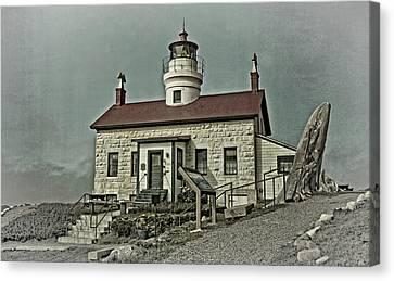 Coastal Landscape Canvas Print - Battery Point Lighthouse by Thom Zehrfeld