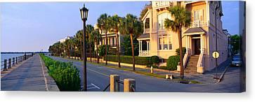 Battery Street Waterfront, Charleston Canvas Print