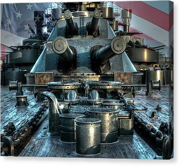 Battle Barge Texas Canvas Print by Ken Shuffield