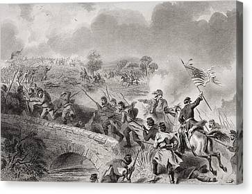Battle Of Antietam Near Sharpsburg Canvas Print by Vintage Design Pics