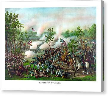 Battle Of Atlanta Canvas Print by War Is Hell Store