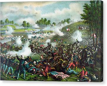 Bulls Canvas Print - Battle Of Bull Run - Civil War  by War Is Hell Store