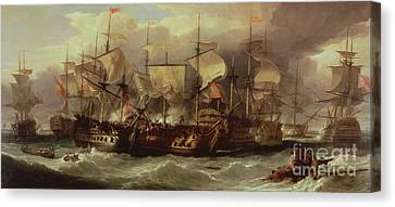Battle Of Cape St Vincent Canvas Print by Sir William Allan