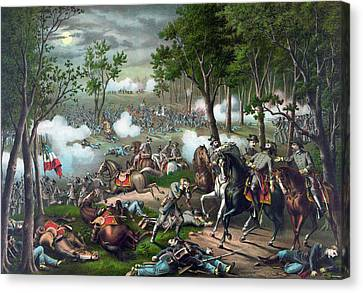 Battle Of Chancellorsville - Death Of Stonewall Canvas Print by War Is Hell Store