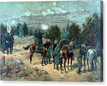 Battle Of Chattanooga - Missionary Ridge Canvas Print by War Is Hell Store
