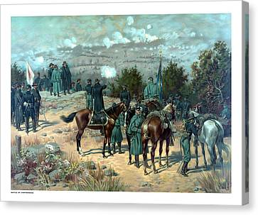 Battle Of Chattanooga Canvas Print by War Is Hell Store