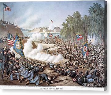 Battle Of Corinth, 1862 Canvas Print by Granger