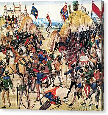 Encbr Canvas Print - Battle Of Crecy, 1346 by Granger