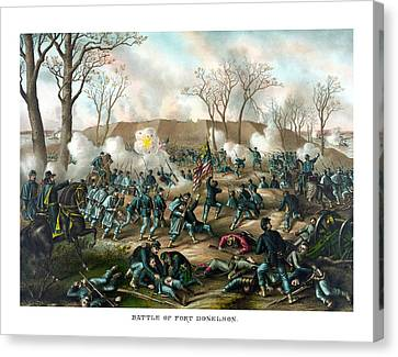 Battle Of Fort Donelson Canvas Print by War Is Hell Store