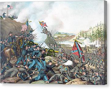Franklin Tennessee Canvas Print - Battle Of Franklin by American School