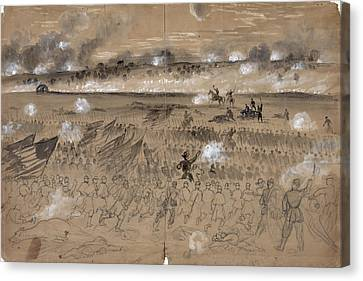 Battle Of Fredericksburg Canvas Print by Granger