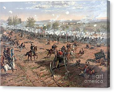 Battle Of Gettysburg Picketts Charge Canvas Print by Science Source