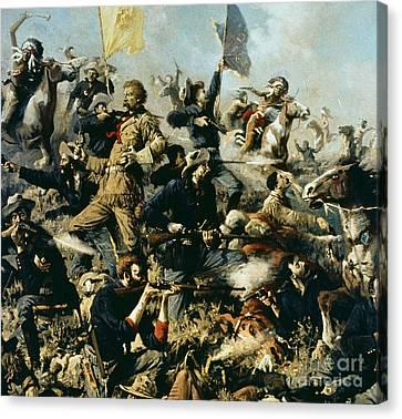1876 Canvas Print - Battle Of Little Bighorn by Edgar Samuel Paxson
