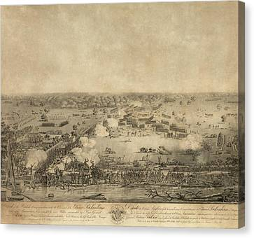 Battle Of New Orleans. The British Canvas Print by Everett