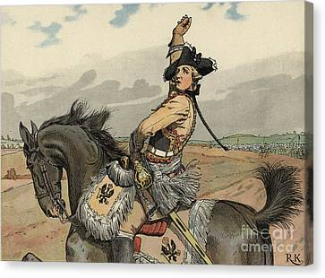 Battle Of Rossbach Canvas Print