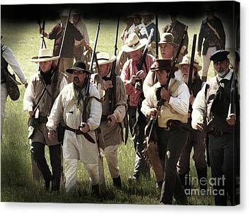 Battle Of San Jacinto Canvas Print by Kim Henderson