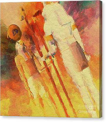 Horus Canvas Print - Battle Of The Gods, Horus And Seth By Mb by Mary Bassett