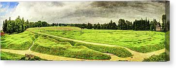Battle Of The Somme Trench Frontline At Beaumont-hamel - Vintage Version Canvas Print by Weston Westmoreland