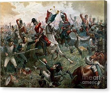 Battle Of Waterloo Canvas Print by William Holmes Sullivan