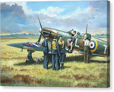 'battle Tactics' Canvas Print