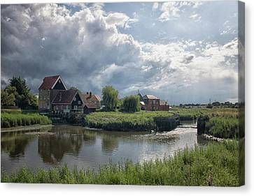 Vintage River Scenes Canvas Print - Battlesbridge by Martin Newman