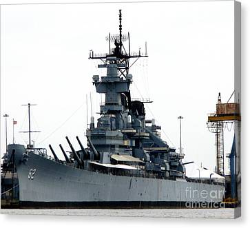 Battleship New Jersey Canvas Print