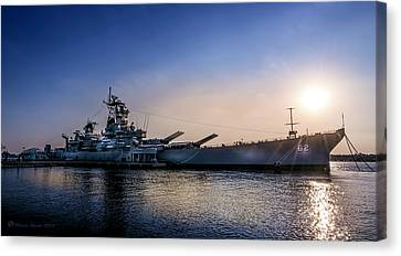 Artillery Canvas Print - Battleship New Jersey by Marvin Spates