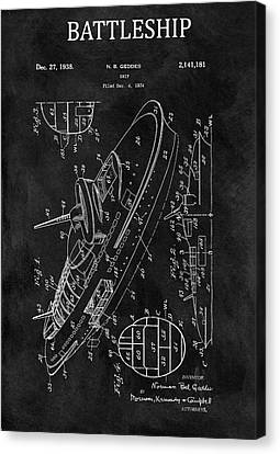 Us Navy Canvas Print - Battleship Patent by Dan Sproul