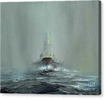 Avengers Canvas Print - Battleship Yamato, 1945 by Vincent Alexander Booth