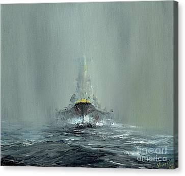 Battleship Yamato, 1945 Canvas Print