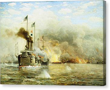 Battleships At War Canvas Print
