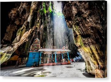 Batu Cave Sunlight Canvas Print by Adrian Evans