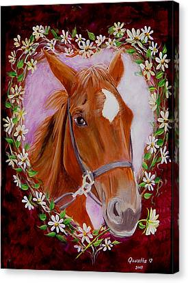 Batuque Canvas Print by Quwatha Valentine