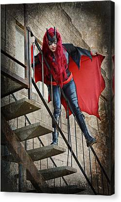 Batwoman Cosplay Canvas Print by Pamela Patch