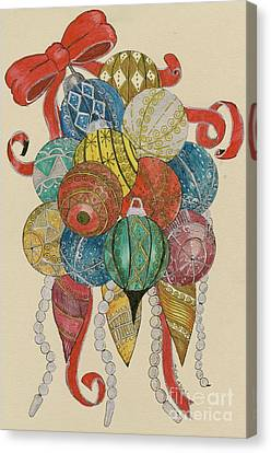 Baubles Canvas Print by Eva Ason