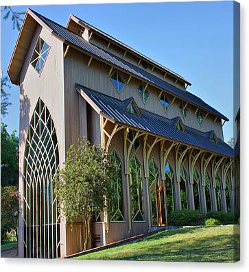 Canvas Print featuring the photograph Baughman Meditation Center - Outside by Farol Tomson