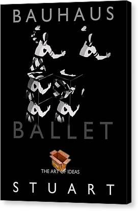 Bauhaus Ballet Black Canvas Print by Charles Stuart