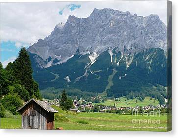 Bavarian Alps Landscape Canvas Print by Carol Groenen