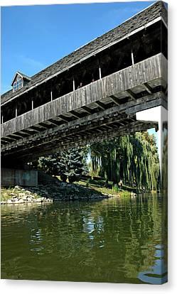 Canvas Print featuring the photograph Bavarian Covered Bridge by LeeAnn McLaneGoetz McLaneGoetzStudioLLCcom