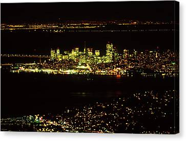 Bay Area Nights Canvas Print by Soli Deo Gloria Wilderness And Wildlife Photography