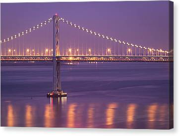 Bay Bridge At Dusk Canvas Print