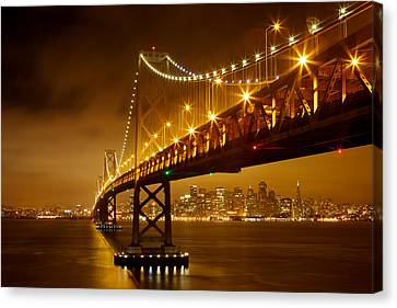 Canvas Print featuring the photograph Bay Bridge by Evgeny Vasenev
