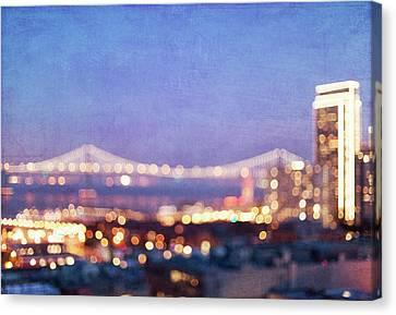 Bay Bridge Glow Canvas Print by Melanie Alexandra Price