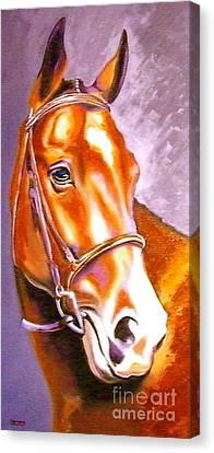 Bay Champion Canvas Print by Susan A Becker