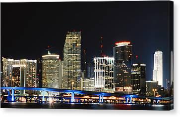 Bay Front Miami Skyline Canvas Print by Gary Dean Mercer Clark