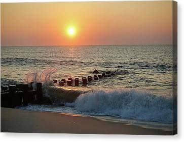 Bay Head Beach Sunrise 1 Canvas Print