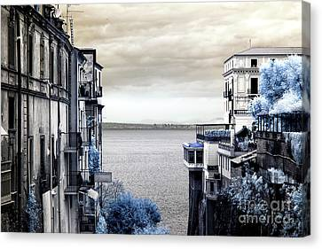 Bay Of Naples View Infrared Canvas Print