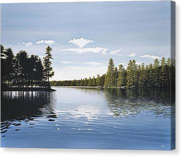 Bay On Lake Muskoka Canvas Print by Kenneth M  Kirsch